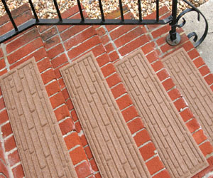 Waterhog Stair Treads - Brick Pattern